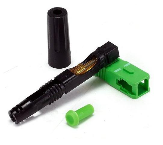 Kit 10 Un Conector Fibra Optica Apc Ftth Novo Envio Imediato