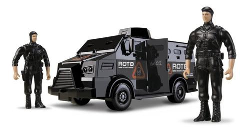Caminhão Tático Blindado - 34cm - C/ 2 Militares - Roma