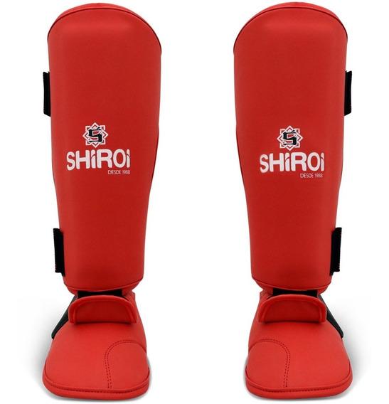 Caneleira Karate Azul Ou Vermelha Shiroi Homologada Selo Cbk