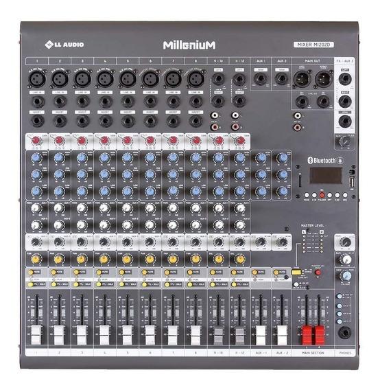 Mesa De Som 12 Canais C/ Usb/sd/bluetooth M1202d - Ll Audio