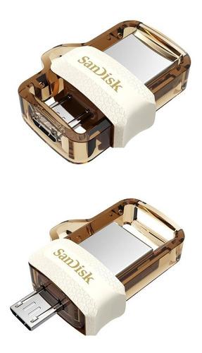 Pendrive Sandisk Ultra Dual M3.0 256gb 3.0 Dourado