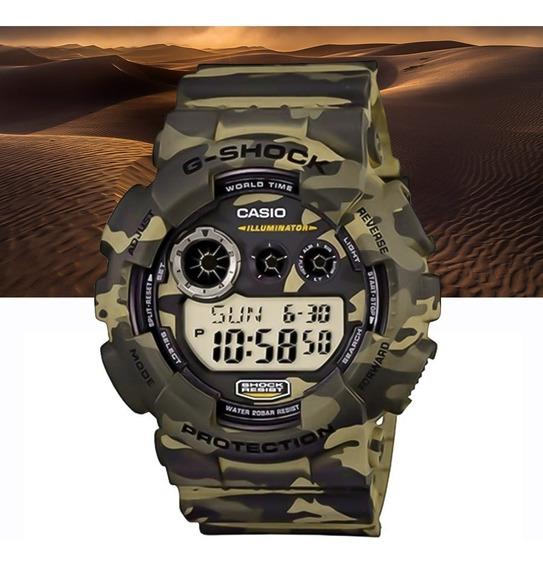 Relógio Casio G-shock Digital Gd-120cm-5dr Camuflado