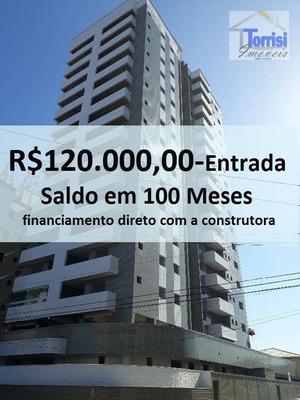 Apartamento Em Praia Grande, 03 Dormitórios Sendo 01 Suite, Lazer Completo Na Mirim Ap1059 - Ap1059