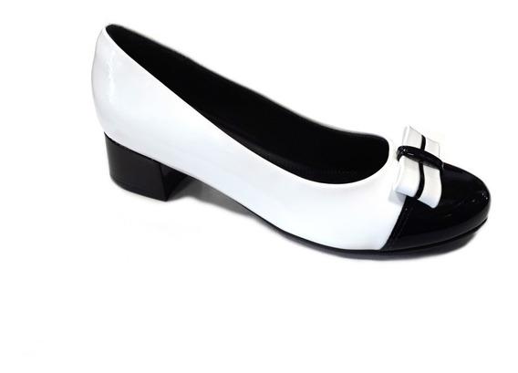Zapato Piccadilly Clásico Elegante 141077 Moño Blanco Negro