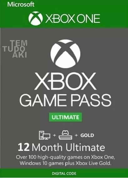 Game Pass Ultimate 12 Meses - Xbox One 25 Digitos