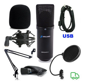 Microfone Arcano Black Braço Articulado Popfilter Aranha