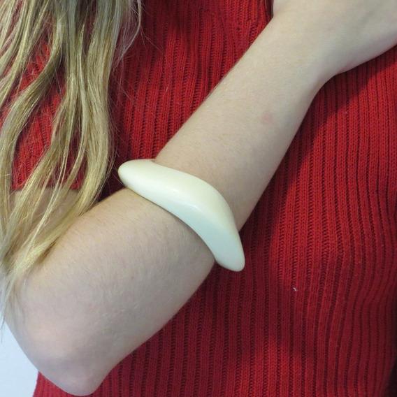 Bracelete Feminino Rosa Chá Resina Off White Original