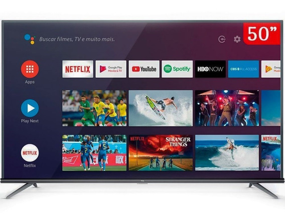 Smart Tv Led 50 Polegadas 4k Com Comando De Voz Tcl 50p8m