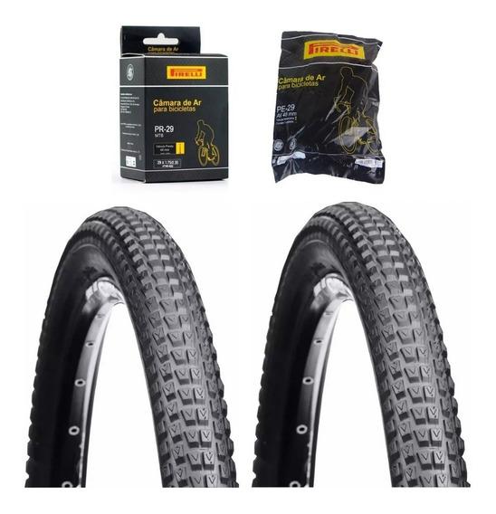 Par Pneu Vee Rubber Bike Mtb Aro 29x2.10 + 2 Camaras Pirelli