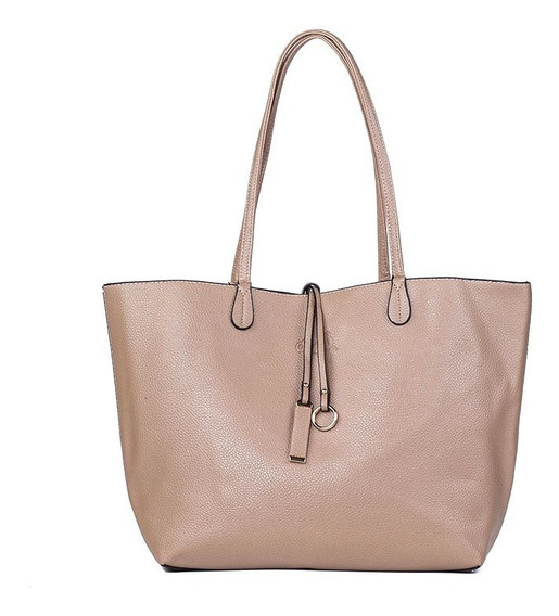 Bolsa Sacola Feminina Shopper Bege Oumai