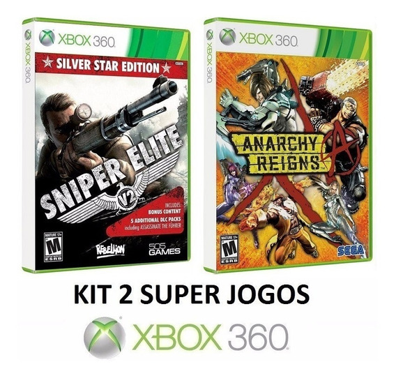 Sniper Elite V2 + Anarchy Reigns - Midia Fisica - Xbox 360