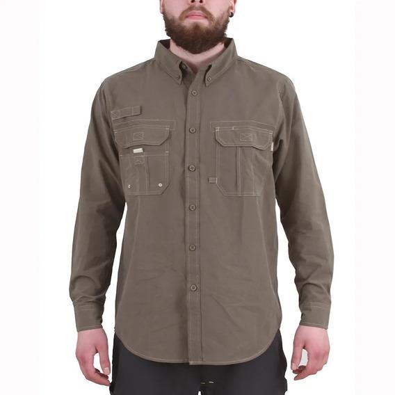Camisa Outdoor Duck Dry Hardwork Hombre Verde