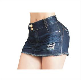 Short Saia Jeans Lycra Pit Bull Bojo Bumbum Removível 29347