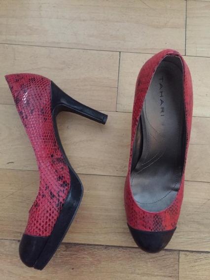 Zapatos De Mujer Color Rojo, Talle 37