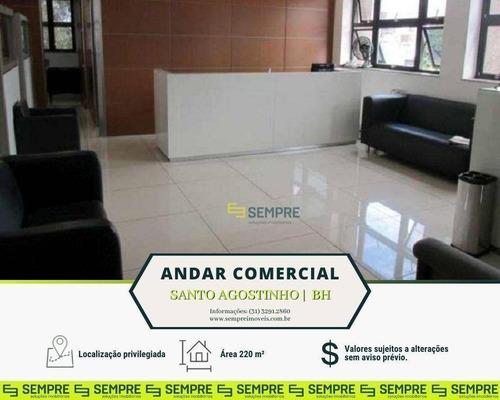 Imagem 1 de 16 de Andar Corporativo À Venda, 220 M² E 02 Vagas - Santo Agostinho - Belo Horizonte/mg - Ac0031