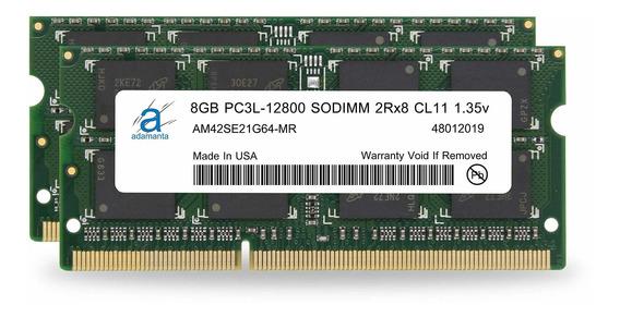 Memoria Ram 16gb Adamanta (2x8gb) Upgrade Para Lenovo Flex Ideapad Thinkpad Ddr3l 1600mhz Pc3l-12800 Sodimm 2rx8