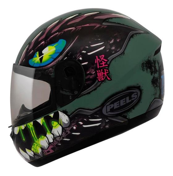 Capacete Moto Peels Spike Zilla Verde Militar Cb Xj Fazer Mt