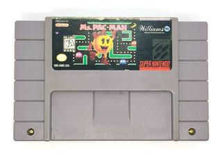 Ms Pac Man Super Nintendo Snes Videojuegos Rock