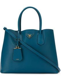 Bolsa Prada Double Bag Importada Com Couro Nova Azul 2019