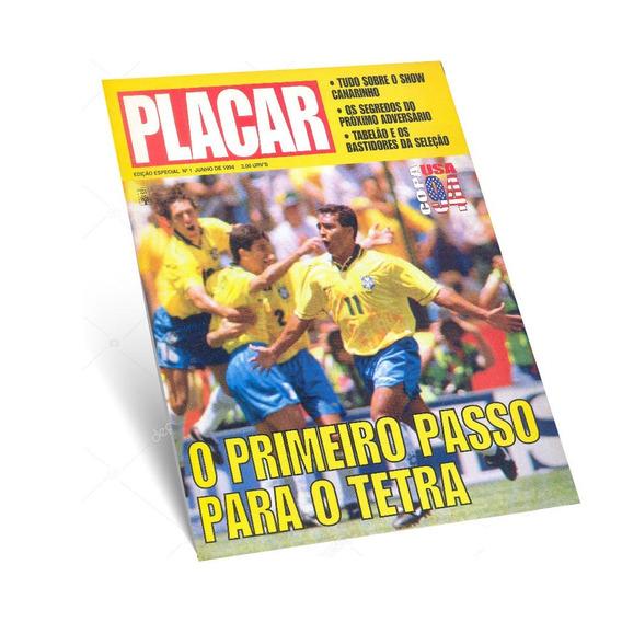 Revista Placar Copa Do Mundo 1994 Eua Nº 01 Romário