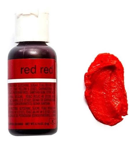 Colorante Comestible Rojo En Gel Chefmaster  0.75 Oz 21g
