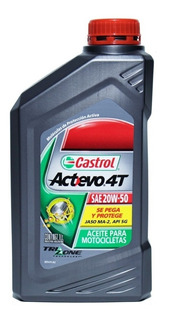 Aceite Castrol Actevo 4t Sae 20w50 Mineral Marelli Synblend