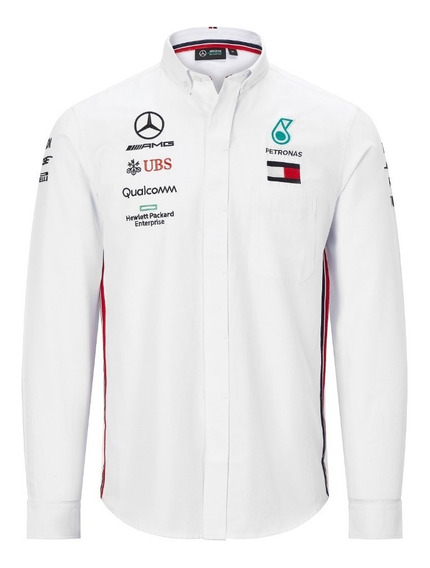 Camisa Vestir Mercedes Petronas Bordada Manga Larga *2019**