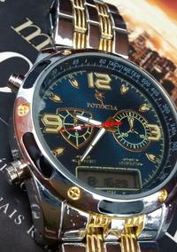 Relógio Potenzia Ponteiro Digital Resist Kit C/ 3 Relógios