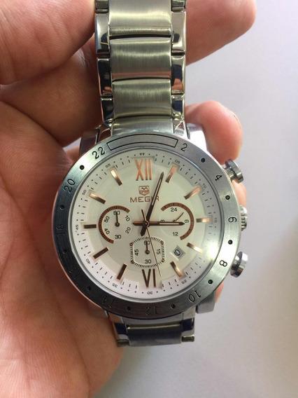 Relógio Megia Com Cronógrafo A Prova D