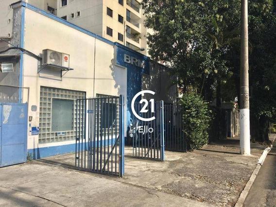 Galpão Para Alugar, 1160 M² Por R$ 28.000,00/mês - Moema - São Paulo/sp - Ga0253