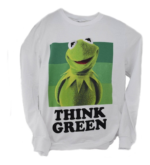 Sudadera Disney Original Think Green Rana Rene