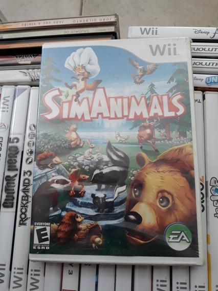 Jogo Sim Animals Nintendo Wii Original Lacrado