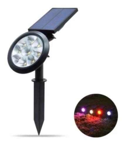 Lampara Exterior Reflector Led Panel Solar 7 Colores