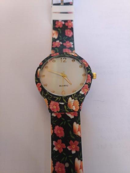 Relógio De Praia Feminino - Floral Emborrachado