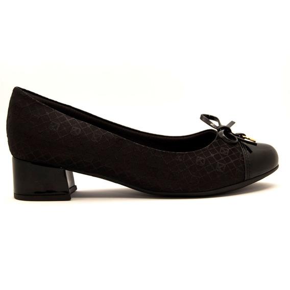 Zapato Clásico Mujer Cuero Ecológico Tela Charol Negro