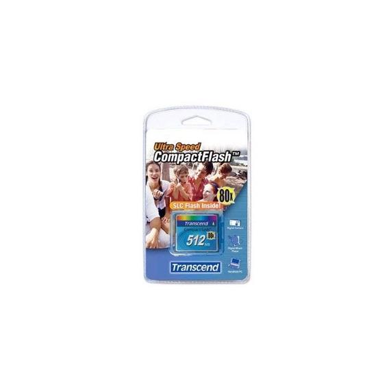 Transcend Ts512mcf80 512mb 80x Type I Compact Flash Card