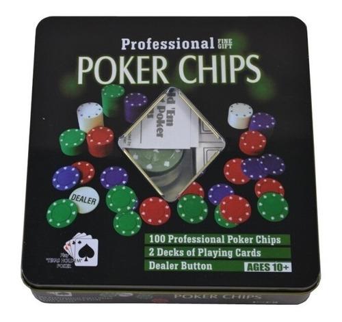 Juego De Poker Profesional De 100 Fichas De Lujo