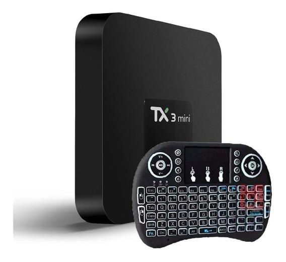 Smart Tv Box Tx3 Netflix Youtube 2gb 16gb Ultra Hd + Teclado