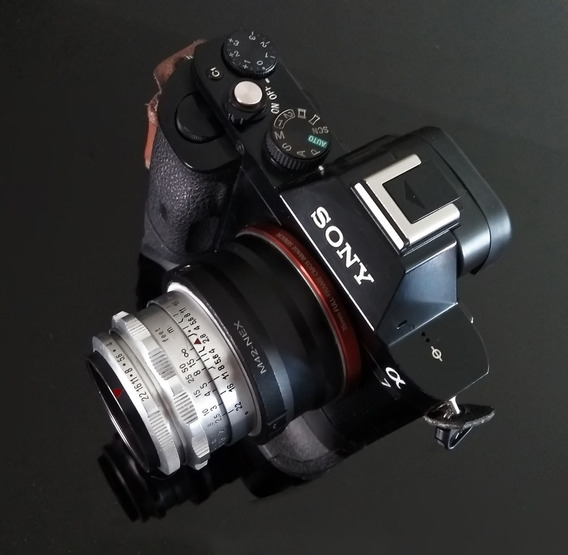 Lente Carl Zeiss Tessar Chrome 50mm M42 + Adaptad Sony E\nex