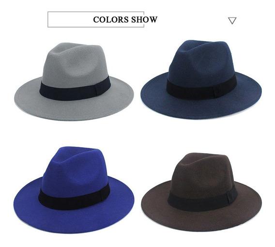 Sombrero Redondo Tela Estilo Americano Jazz