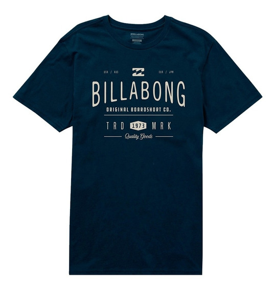 Remera M/c Billabong New Rockaway Tee Navy Hombre Mbremroc