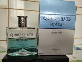 Perfume Quartz Silver Pour Homme Molyneux 100ml Usado