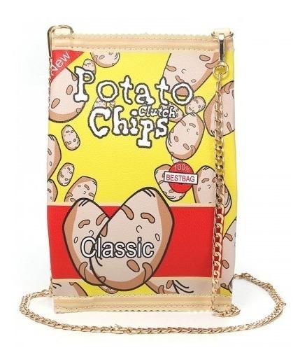 Bolsas Criativa Batata Chips City Rock