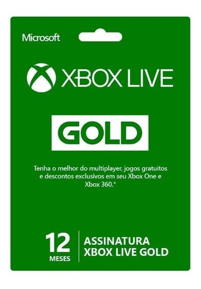 Xbox Live Gold Brasil Br Código 12 Meses 25 Dígitos Oficial