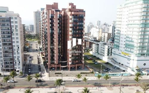 Imagem 1 de 9 de Lindo Apartamento Pé Na Areia Com Vista Para O Mar Na Guilhermina - Praia Grande Sp.