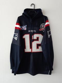 Sudadera Tipo Jersey New England Patriots Brady Bordada Cr