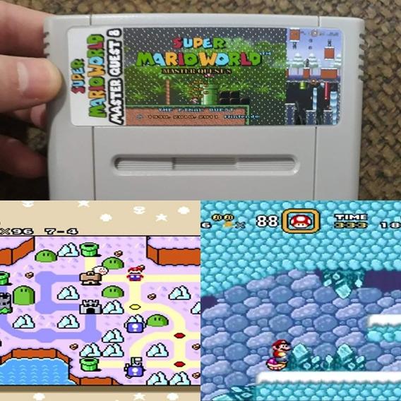 Fitas De Snes Super Mario World Master Quest 8