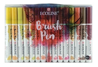 Ecoline Liquid Watercolor Conjunto De Punta De Pincel 30
