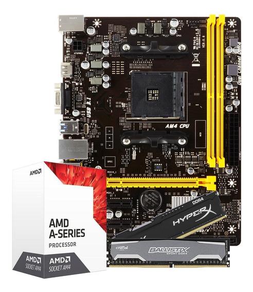 Kit Gamer Biostar A320mh Pro Am4 + Processador A10 9700 + 8g
