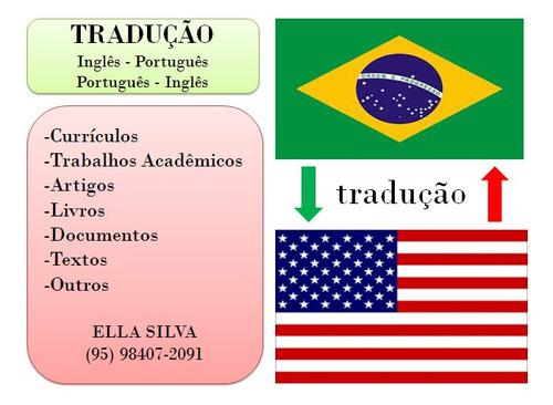 Imagem 1 de 1 de Tradução: Português -- Inglês